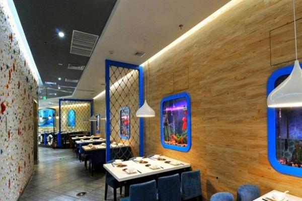 以海洋为主题 诠释自然唯美的海洋餐厅设计施工图片